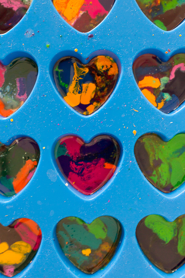 Melted Crayon Wax as Hearts I Finding Silver Pennies