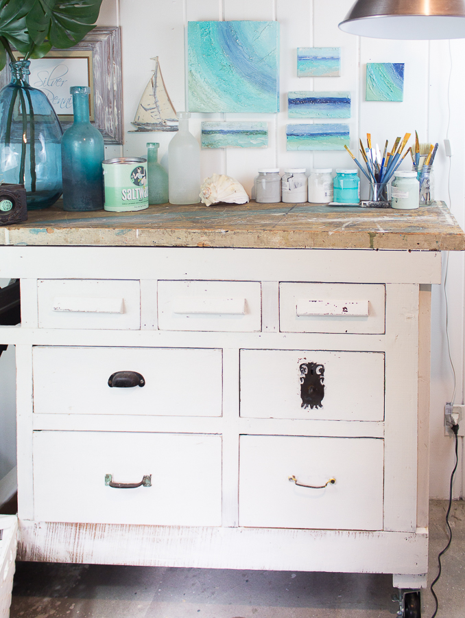 Pretty Coastal Workbench Before & After I Finding Silver Pennies