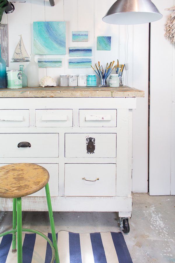 A New Life for An Old Workbench with Milk Paint I Finding Silver Pennies