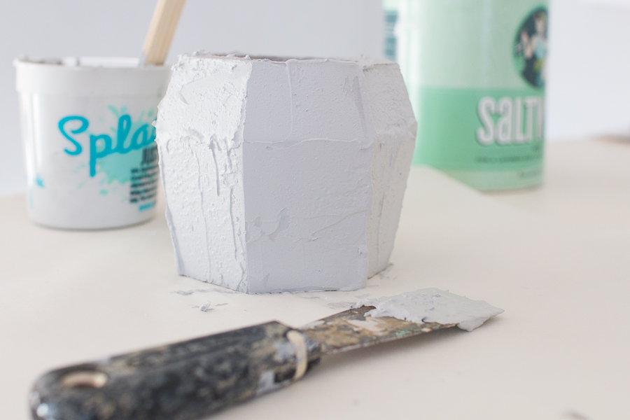Step by Step Faux Concrete Finish with Paint I Finding Silver Pennies