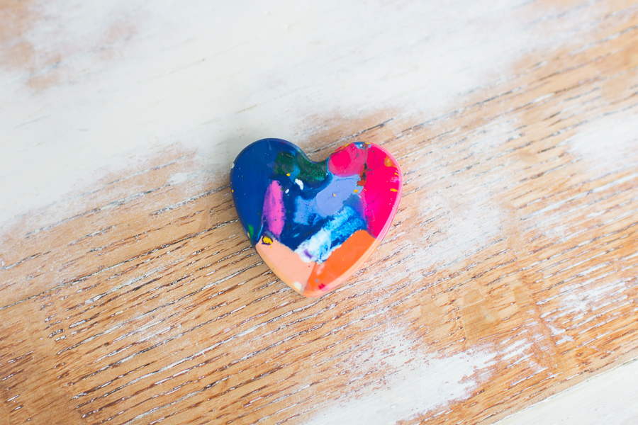 DIY Heart Crayons I Finding Silver Pennies