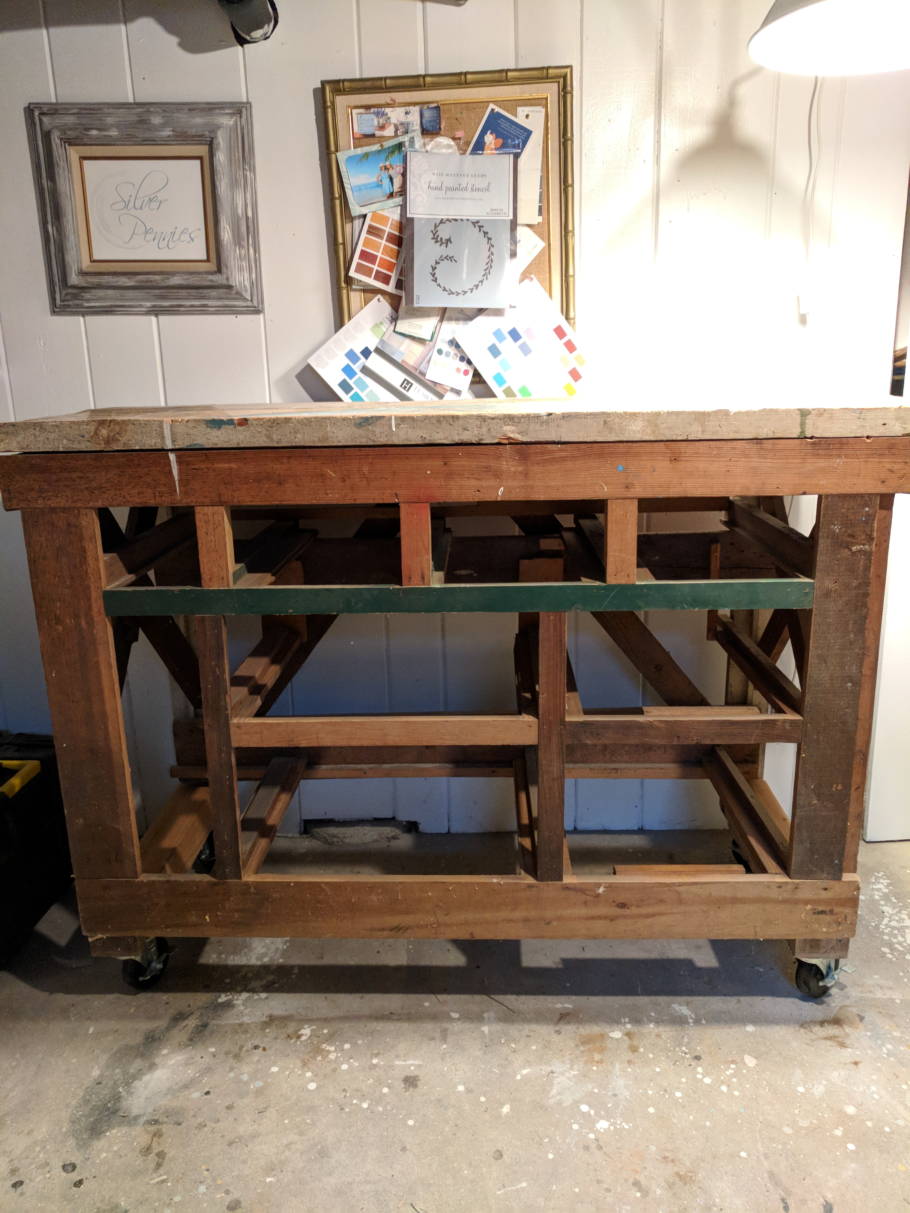 Vintage Workbench Before I Finding Silver Pennies