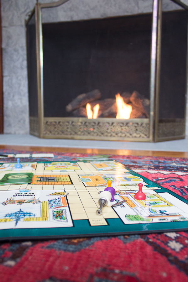 A Game of Clue by the Fireplace