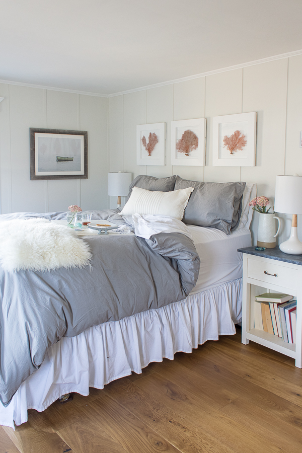 Cozy Bedroom with Breakfast in Bed I Finding Silver Pennies