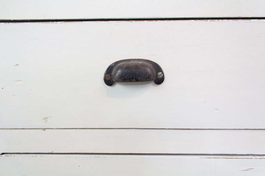 Distressed Drawer and Vintage Pull I Finding Silver Pennies