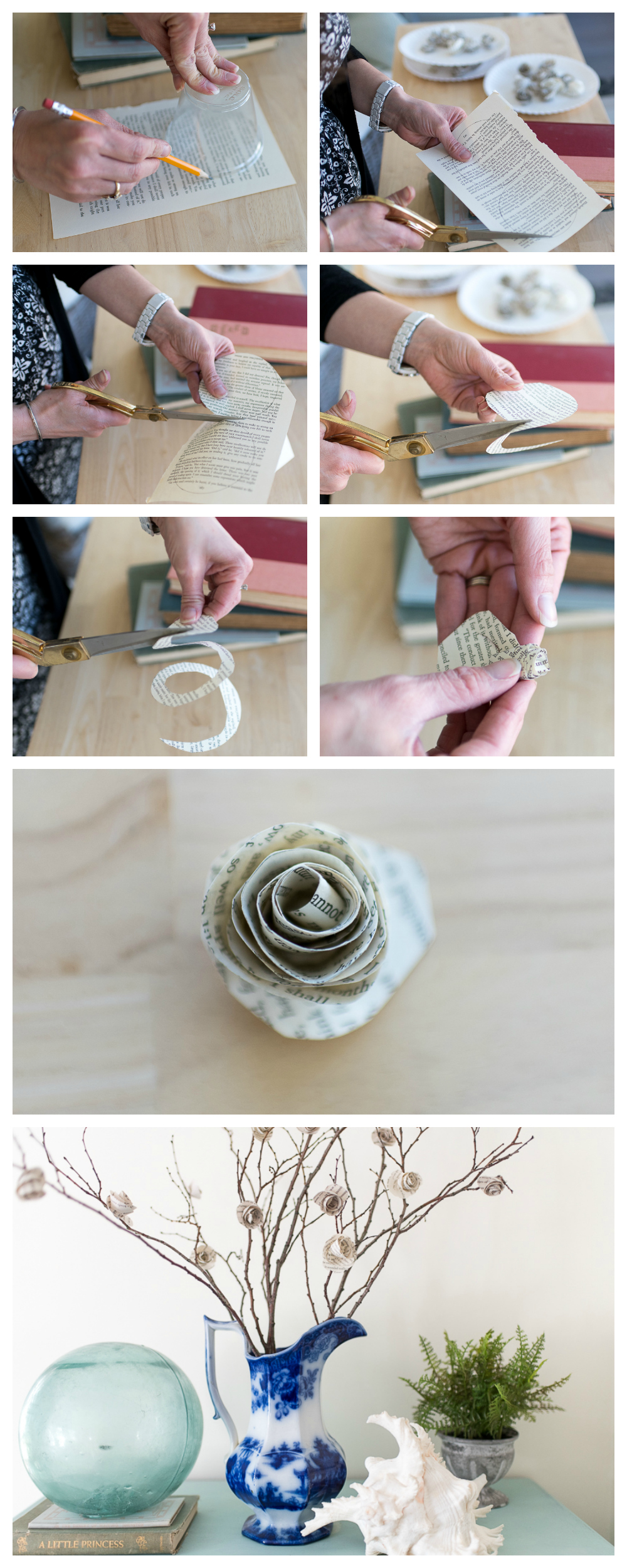 Easy Step by Step for Paper Roses - Finding Silver Pennies
