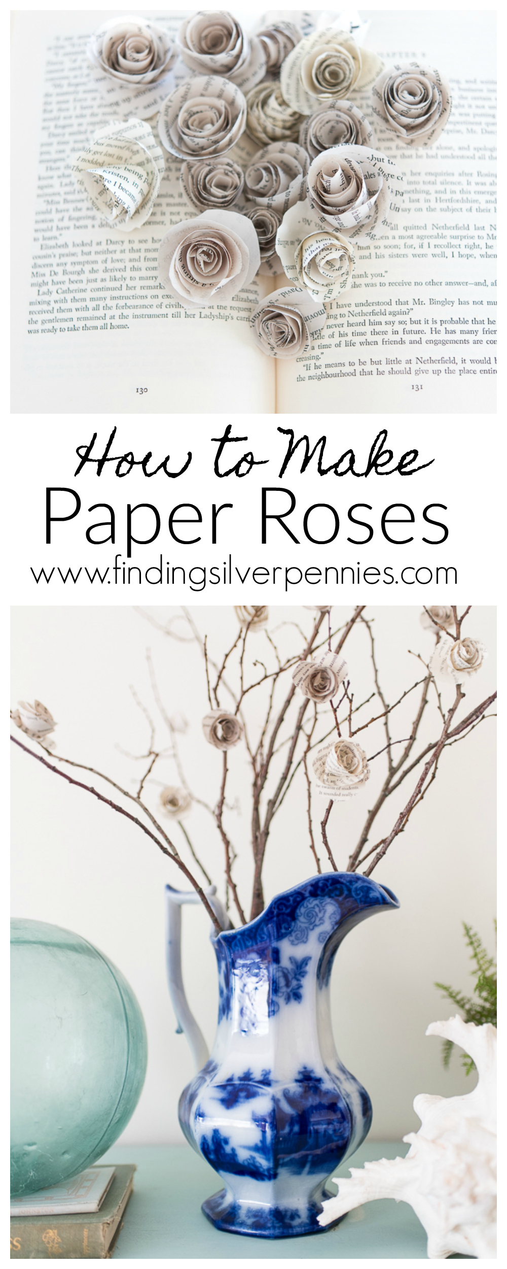 How to Make Paper Roses - Finding Silver Pennies