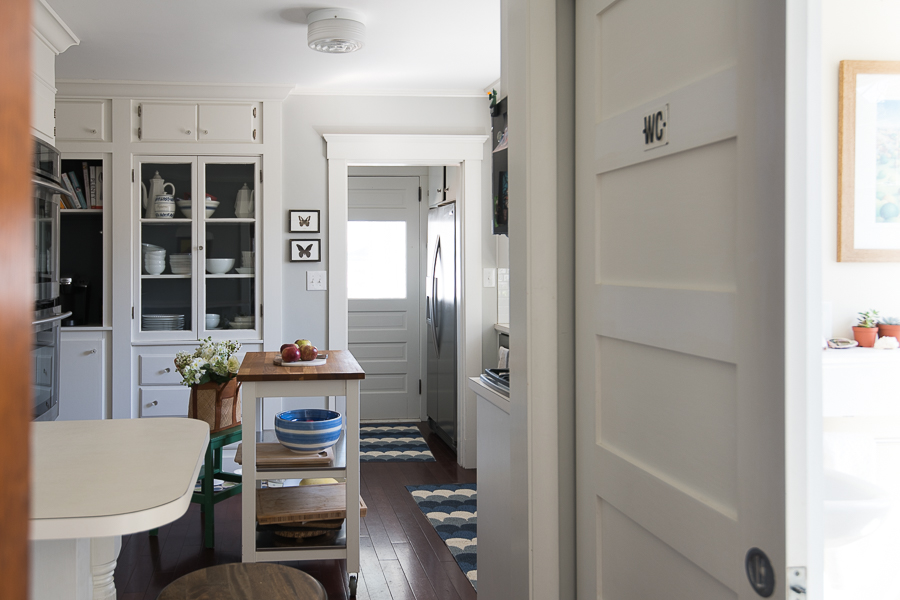 Built in Cabinets and Sliding Doors Over Small Space Solutions - Finding Silver Pennies