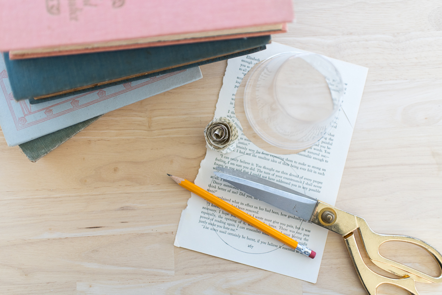 What You Need to Make Book Page Roses - Finding Silver Pennies