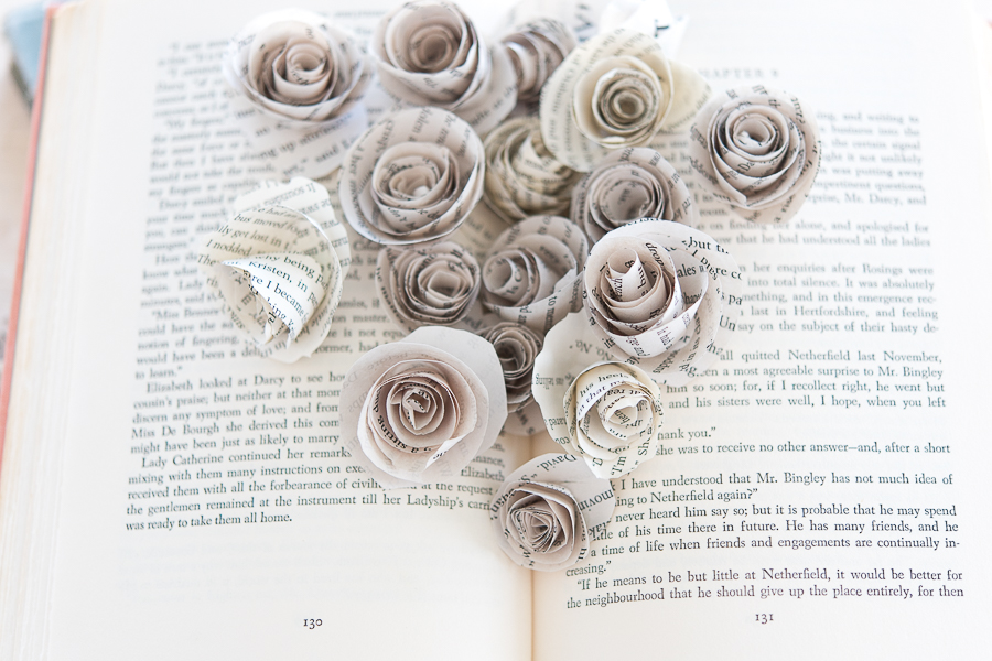 A Book Bursting with Paper Roses - Finding Silver Pennies