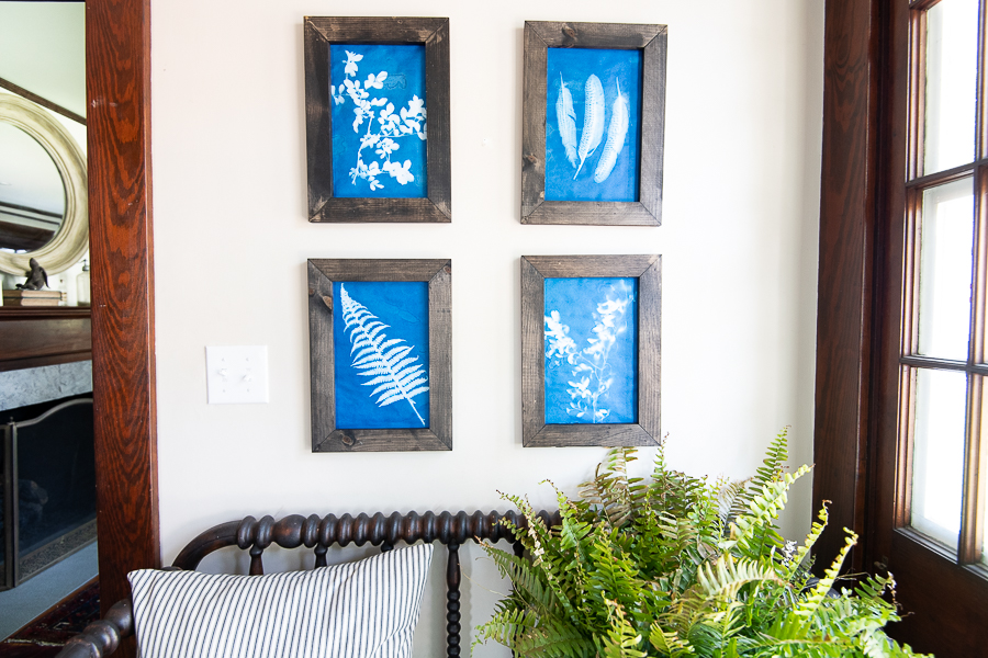 How to Make Rustic Frames and Pretty Sunprints - Finding Silver Pennies