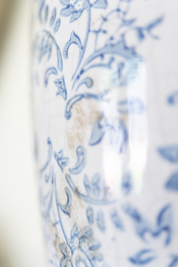 Pretty Detail of a Blue and White Vase - Finding Silver Pennies