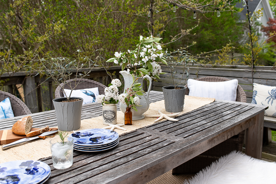Mix Old and New Together for Outdoor Entertaining - Finding Silver Pennies