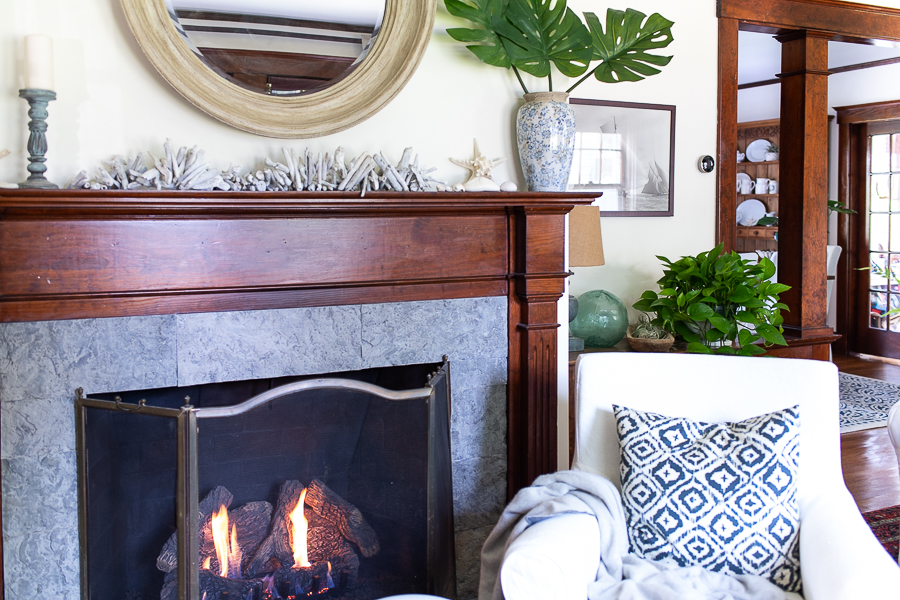 A cozy spot by the fire - Finding Silver Pennies