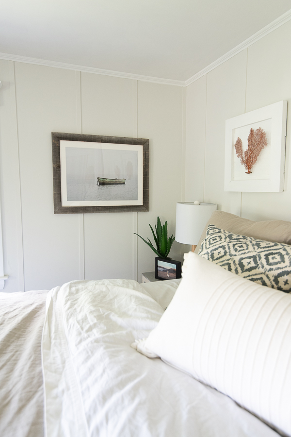 dreamy bedroom in a coastal New England home - Finding Silver Pennies