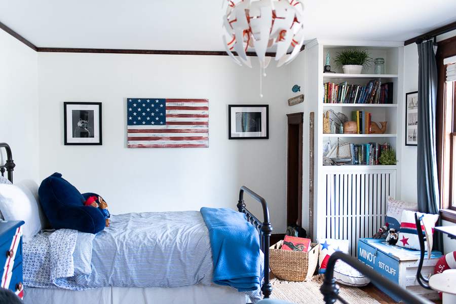 Simply White Walls in Boys' Bedroom