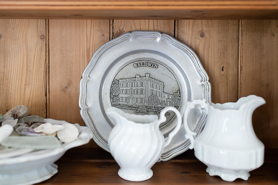 Ironstone and pewter plate from Baldwin's Restaurant - Finding Silver Pennies