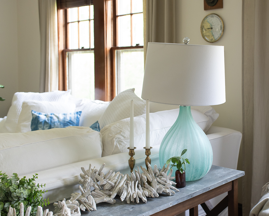 Driftwood Garlands and Sea Glass Lamps - Finding Silver Pennies