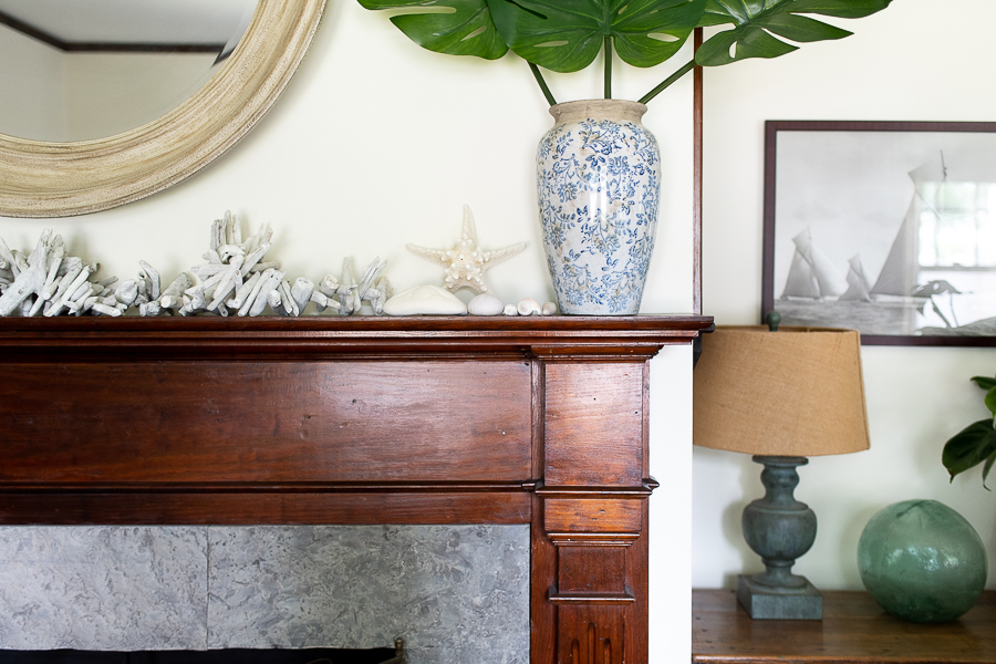 Coastal mantel styling - Finding Silver Pennies