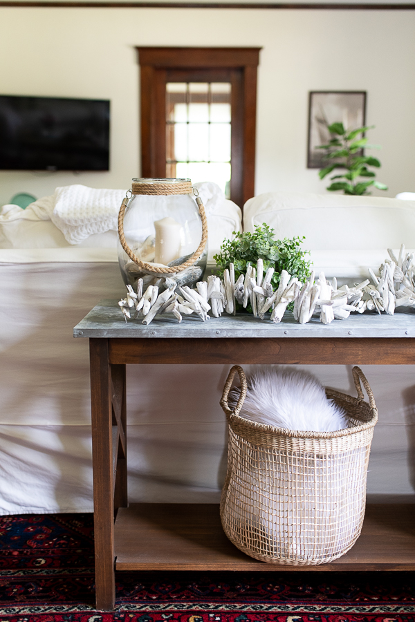 Decorate with natural textures for a fresh coastal and summery look - Finding Silver Pennies