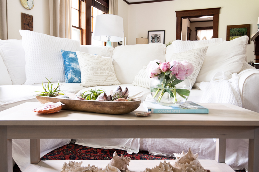 Living Room with Coastal Style - Finding Silver Pennies