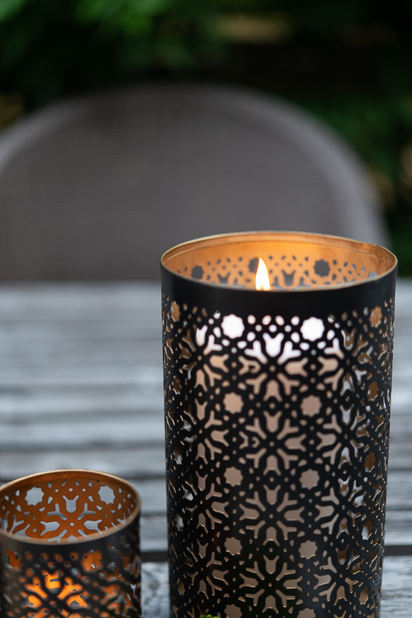 Punched lanterns and candlelight - Finding Silver Pennies
