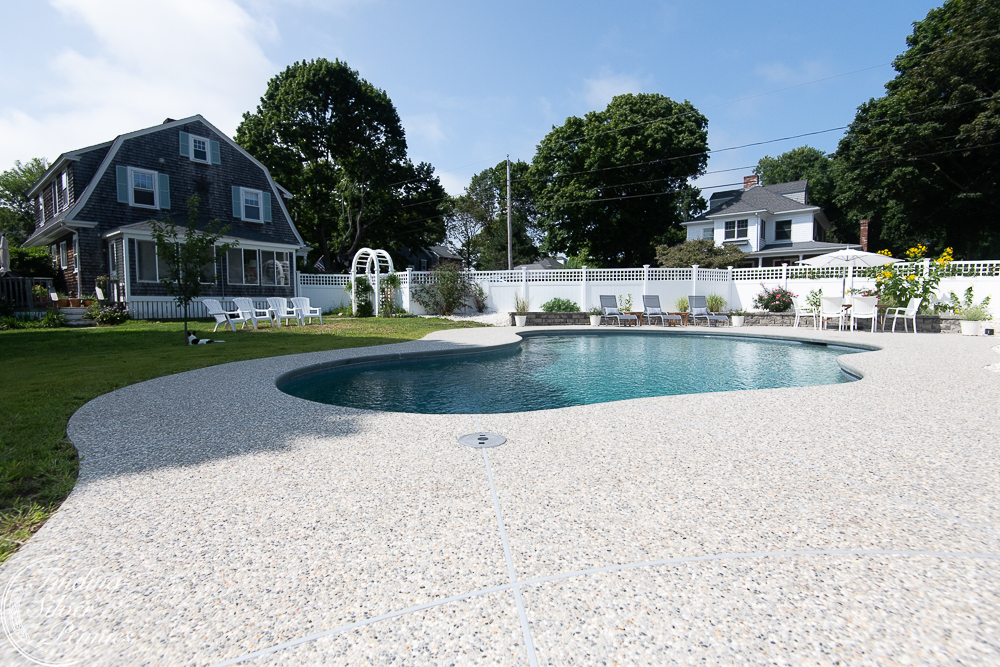 New England home and coastal pool reveal - Finding Silver Pennies