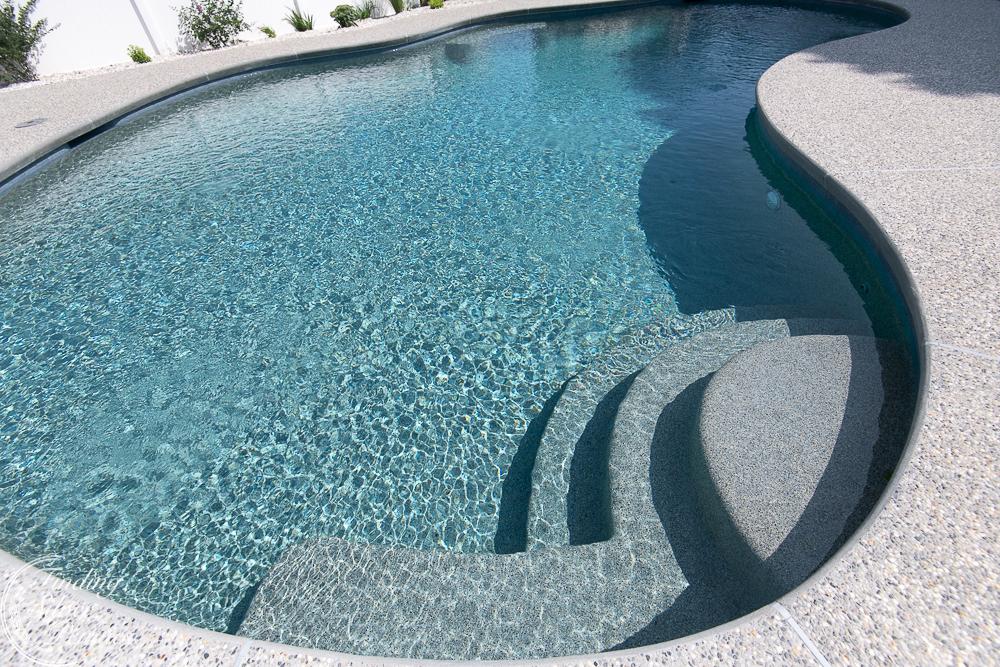 Gleaming gunite pool - Finding Silver Pennies