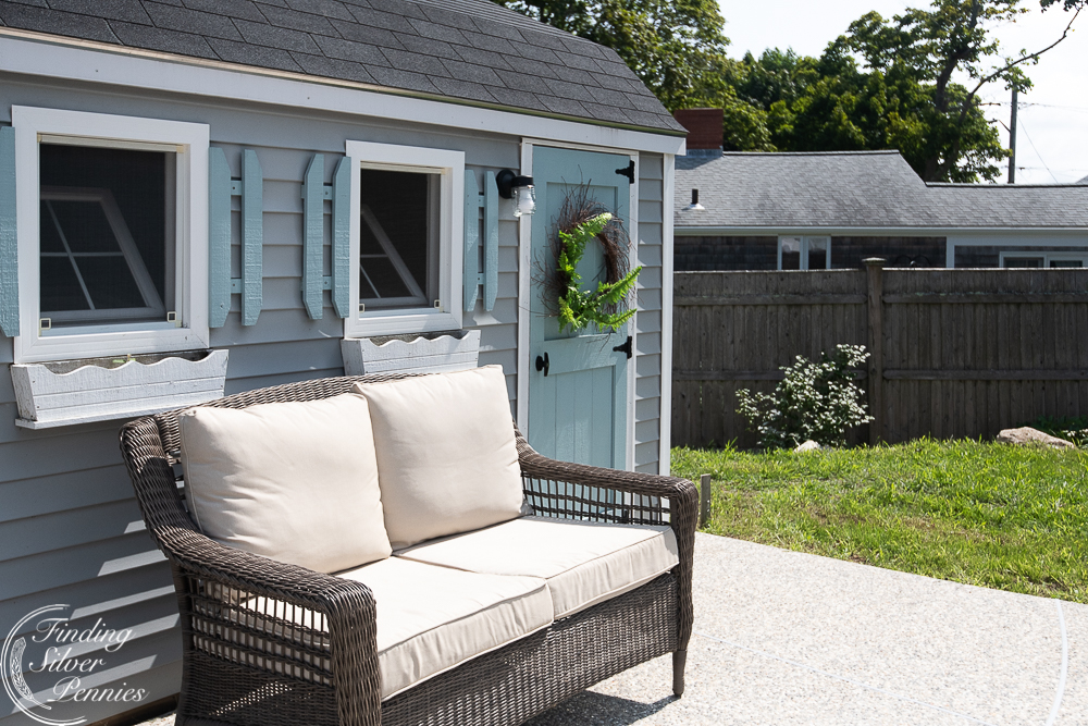 She Shed and Coastal Pool Reveal - Finding Silver Pennies