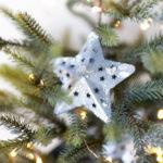 DIY Snowy Galvanized Star Ornaments