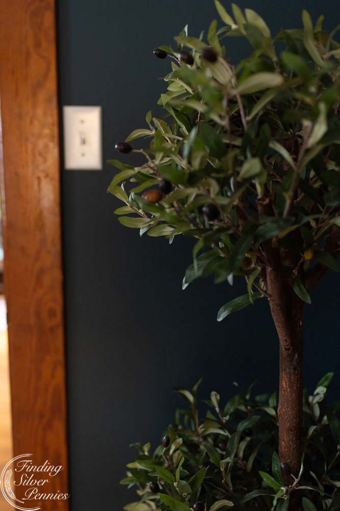 faux olive topiary