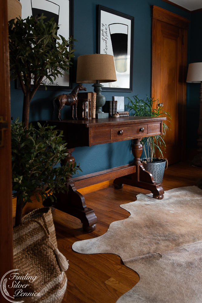 An office filled with antiques and vintage finds