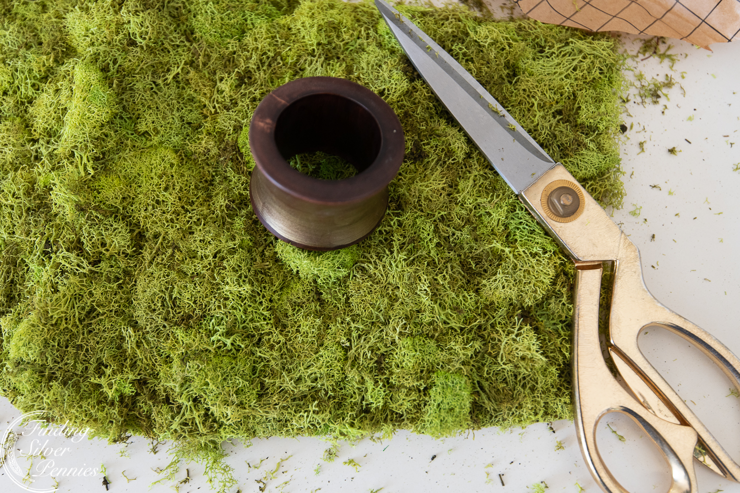 Simple steps for moss napkin rings #moss #crafts #DIYmosswreath #diymossnapkinrings #winterdecorating #hygge #cozyliving