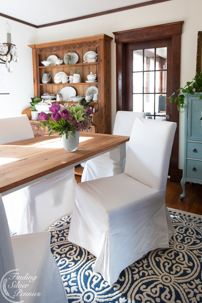 Amazing How To Keep White Slipcovers Clean Finding Silver Pennies Machost Co Dining Chair Design Ideas Machostcouk