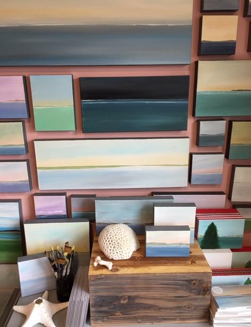 Becky O'Toole's Studio #interview #creativity #coastal #seascapes