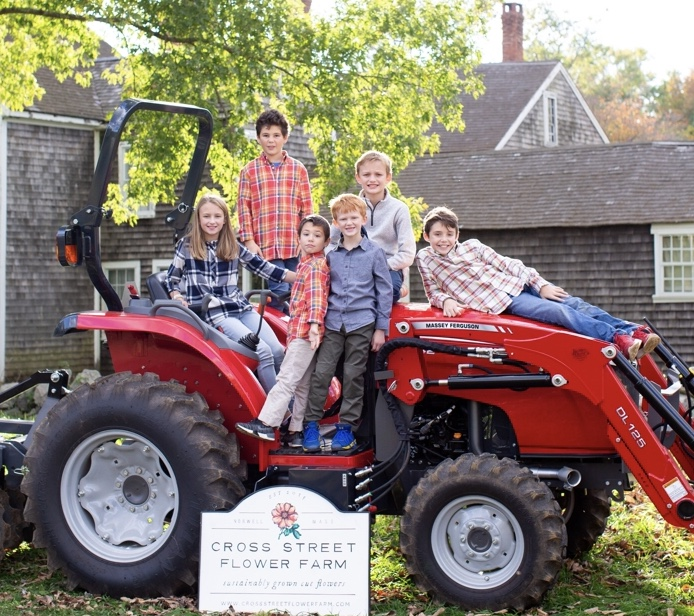 Cross Street Flower Farm Tractor with the Cross Street Flower Farm Kids #interview #flowerfarm #creativity
