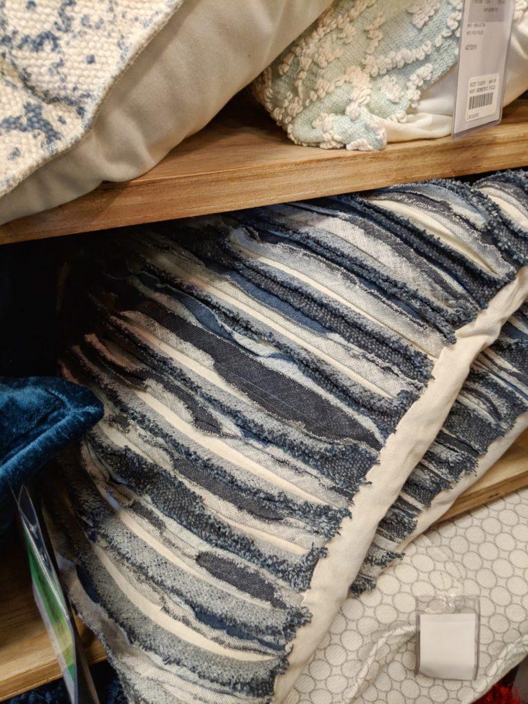 Fun denim pillows