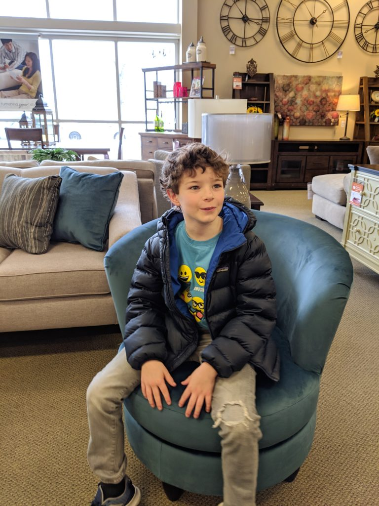 Fun swivel chairs which can be upholstered in ANY color