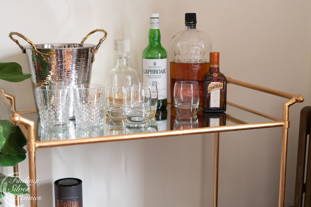 Pretty and Masculine Bar Cart | Finding Silver Pennies