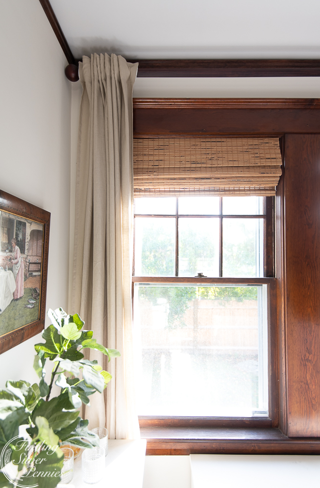 Gorgeous linen drapes - can you believe they are Ikea? #ikea #affordableinteriors #homedecor #linen #curtains