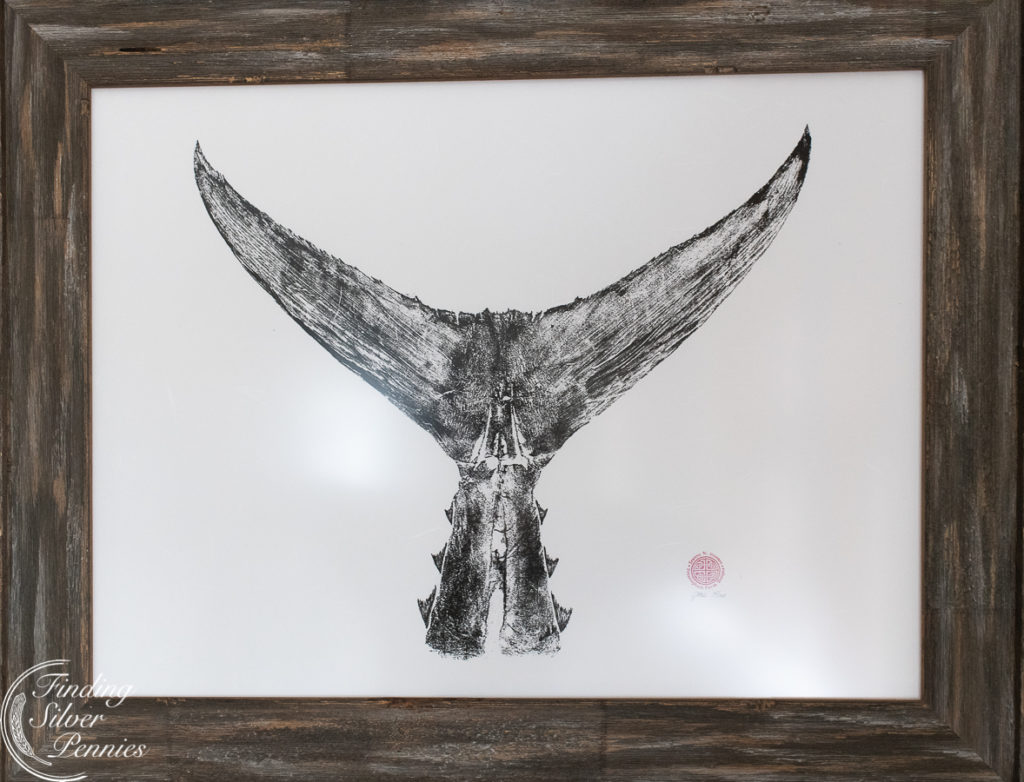 Beautiful fish print framed in reclaimed wood | Finding Silver Pennies