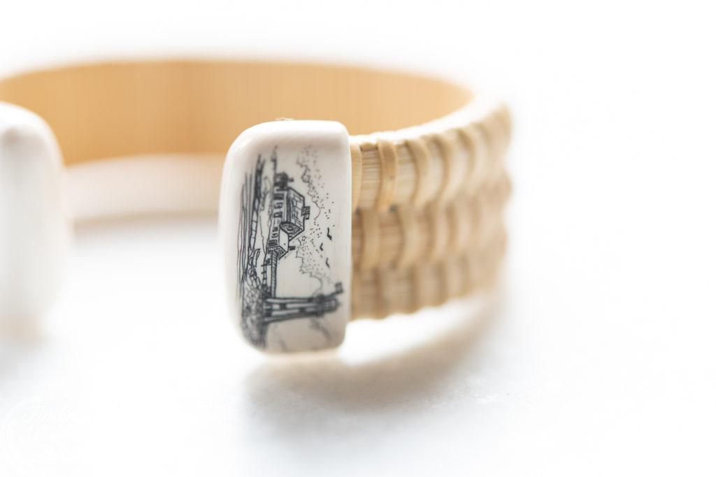 Beautiful Nantucket Bracelet by Jeanne Stewart of Pressingham Farm Designs | Finding Silver Pennies #coastal #nantucketbracelet