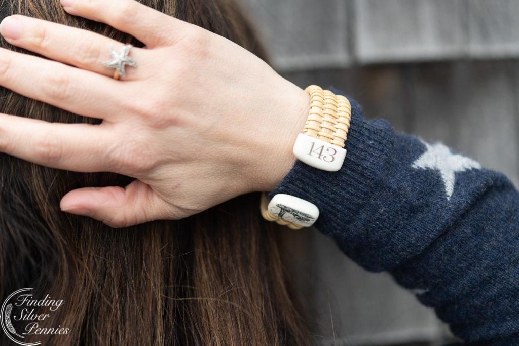 Seaside and the joy of Nantucket Bracelets by Pressingham Farm Designs | Finding Silver Pennies