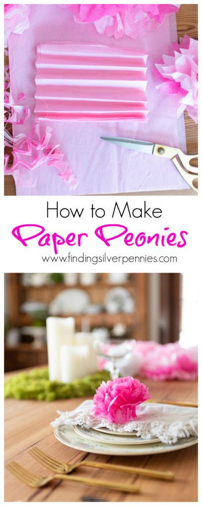 How to make paper Peonies #crafts #tissuepaperflowers #paperflowers #spring
