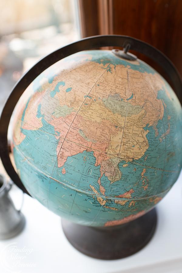 Vintage Globes - Playroom Reveal   Finding Silver Pennies