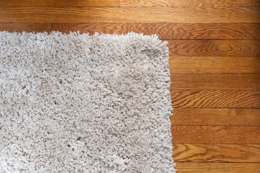Cozy and soft shag throw rug for the playroom, the perfect spot to play   Finding Silver Pennies
