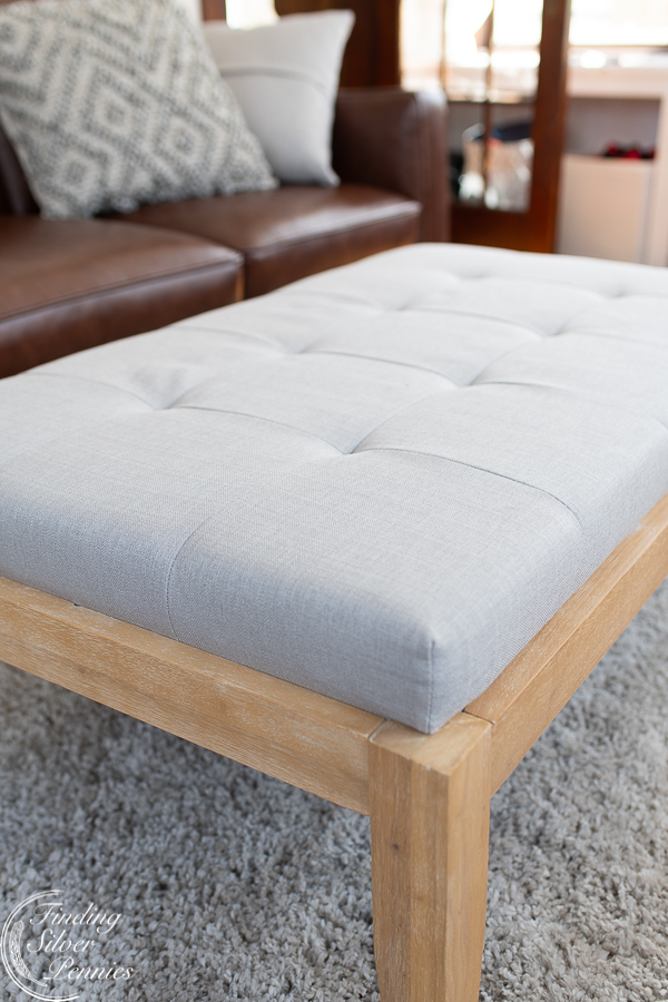 Lovely ottoman perfect for a playroom   Finding Silver Pennies