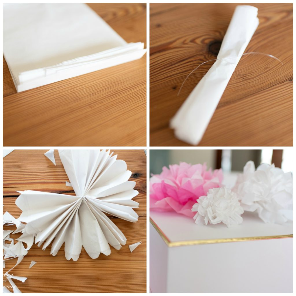 Step by step - how to make tissue paper flowers #crafts #tissuepaperflowers #paperflowers #spring