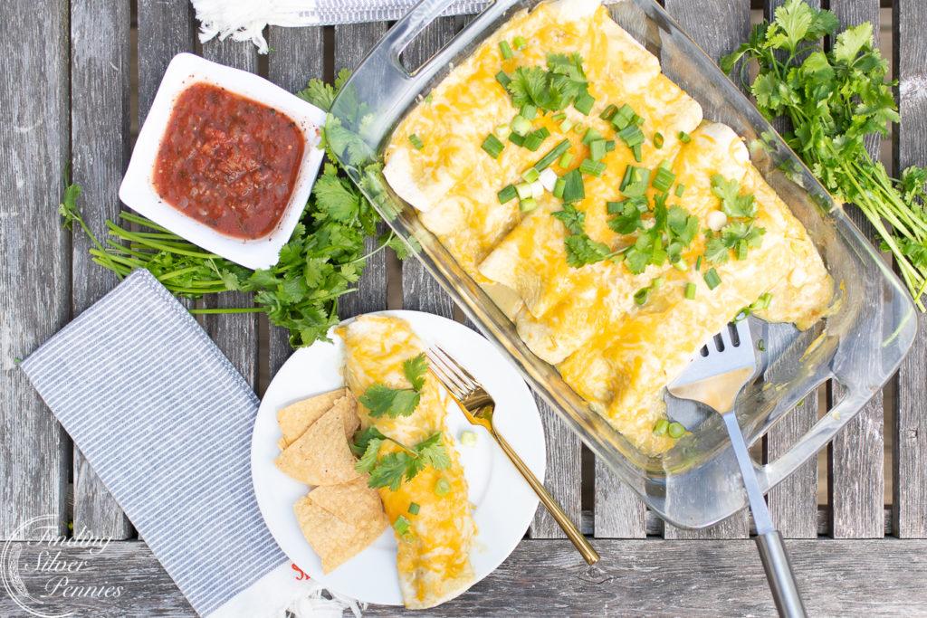 Creamy Enchiladas | Finding Silver Pennies #cincodemayo #recipe #healthy #mexican #enchiladas