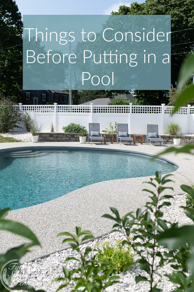 Things to Consider When Installing a Pool - Finding Silver ... on